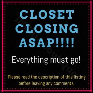 Tops - PLEASE SHARE! CLOSET CLOSING